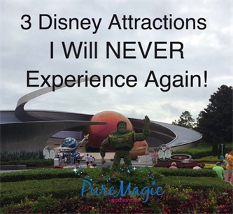 There are 3 attractions at Walt Disney World that I won't ride again!