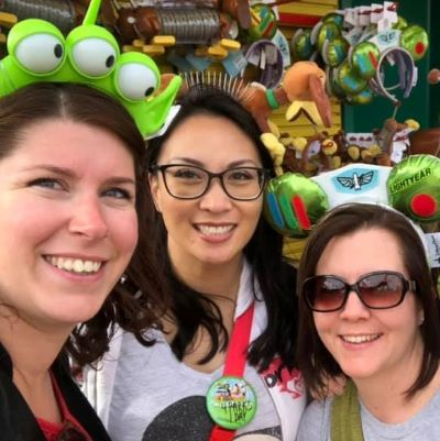 Hanging with friends in Toy Story Land