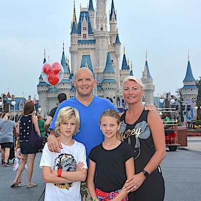 We always have to get a family picture in front of Cinderella Castle at Magic Kingdom