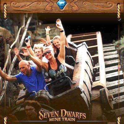 A family favourite - the 7 Dwarfs Mine Train ride at Magic Kingdom
