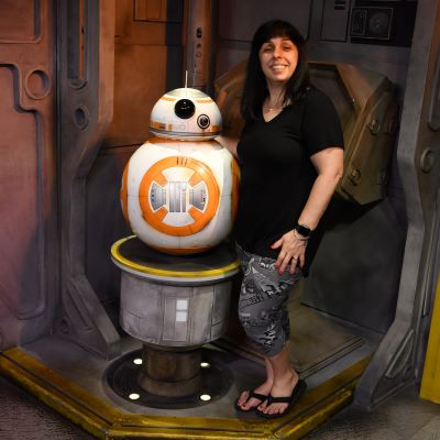 Hanging out with BB8 at Disney's Hollywood Studios