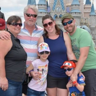 Family picture with Cinderella Castle
