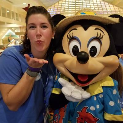 Meeting Minnie at Cape May Cafe