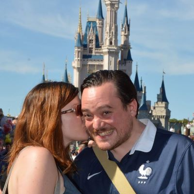 Getting a kiss in front of Cinderella Castle