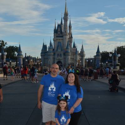 We always take a picture at Cinderella Castle