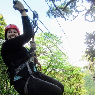 Ziplining in Costa Rica was a blast!