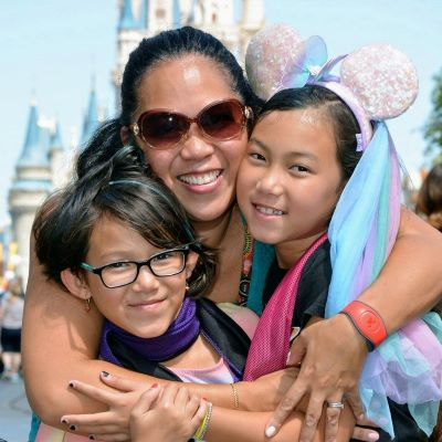 Always time for hugs at the Magic Kingdom!