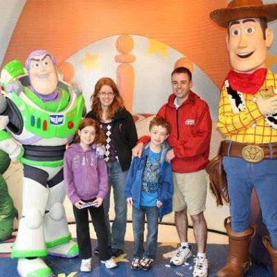Hanging out with Buzz and Woody