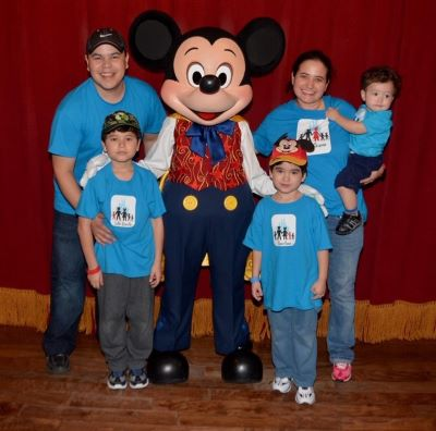 My family with Mickey Mouse