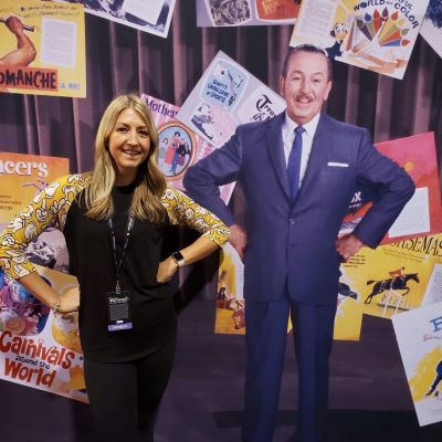 Getting a picture with Walt at the D23 Expo