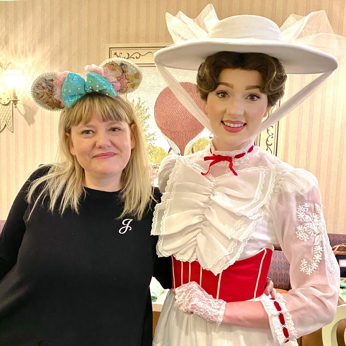 Visiting with Mary Poppins at 1900 Park Fare