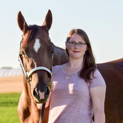 Me and my beautiful horse Mya