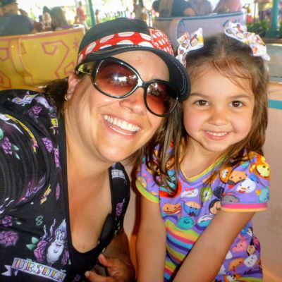 We love to spin on the Mad Tea Party teacups at Magic Kingdom
