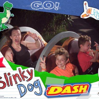 Having a blast on Slinky Dog Dash at Disney's Hollywood Studios