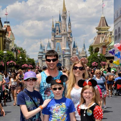 We are sure to get a picture in front of Cinderella castle on every trip we make to Walt Disney World resort.