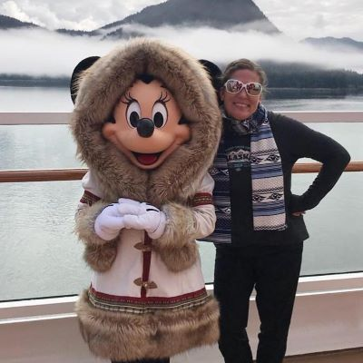 Minnie Mouse and I on an Alaskan Disney Cruise Line vacation on the Disney Wonder