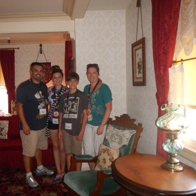 My family visiting Walt's Apartment at Disneyland in California - during an Adventures by Disney Southern California backstage tour.