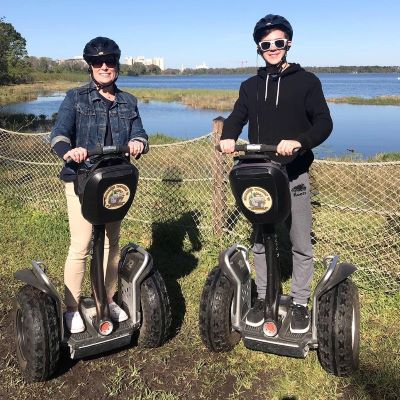 My son & I enjoying the Wilderness Backtrail Segway Adventure at Disney's Fort Wilderness