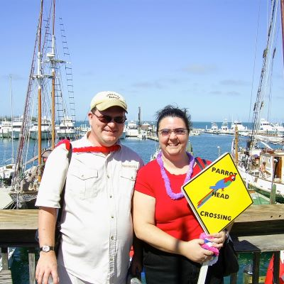 Enjoying a tour of Key West on our 10th anniversary cruise.