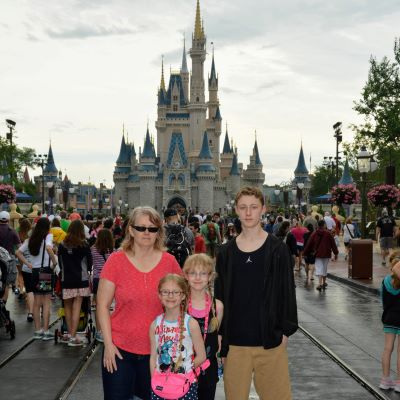 We always need to take a picture in front of Cinderella Castle at Magic Kingdom