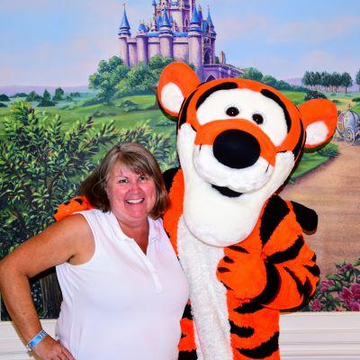 Posing with Tigger at Walt Disney World