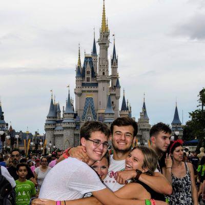 A fun family photo at Magic Kingdom