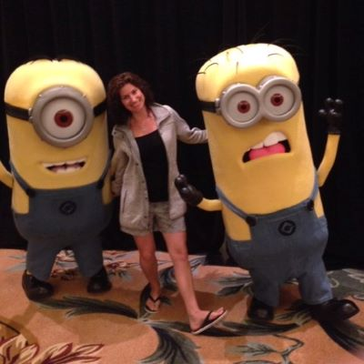 Being goofy with some Minions at Universal Orlando Resort