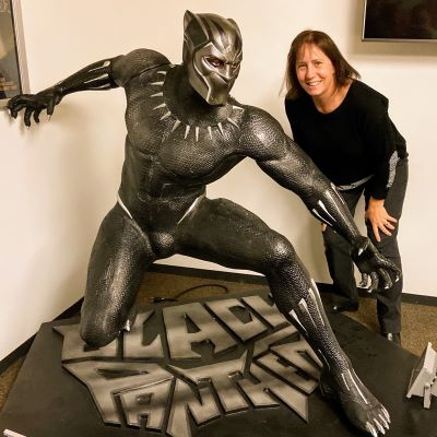 Posing with the Black Panther