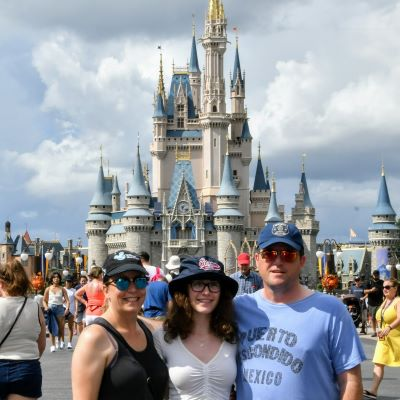 We always need to take a photo in front of Cinderella Castle at Magic Kingdom