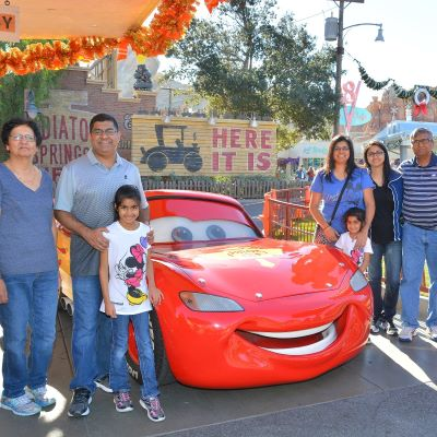 Ka-chow! Lightening McQueen photo opportunity in Carsland at Disney's California Adventure