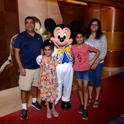 Saying 'Cheese' with Mickey on the Disney Wonder