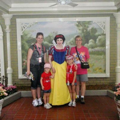 Meeting a favourite princess at Walt Disney World