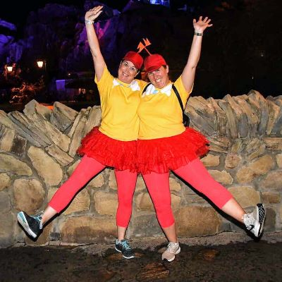 We had so much fun as Tweedle Dee and Tweedle Dum at Mickey's Not So Scary Halloween Party