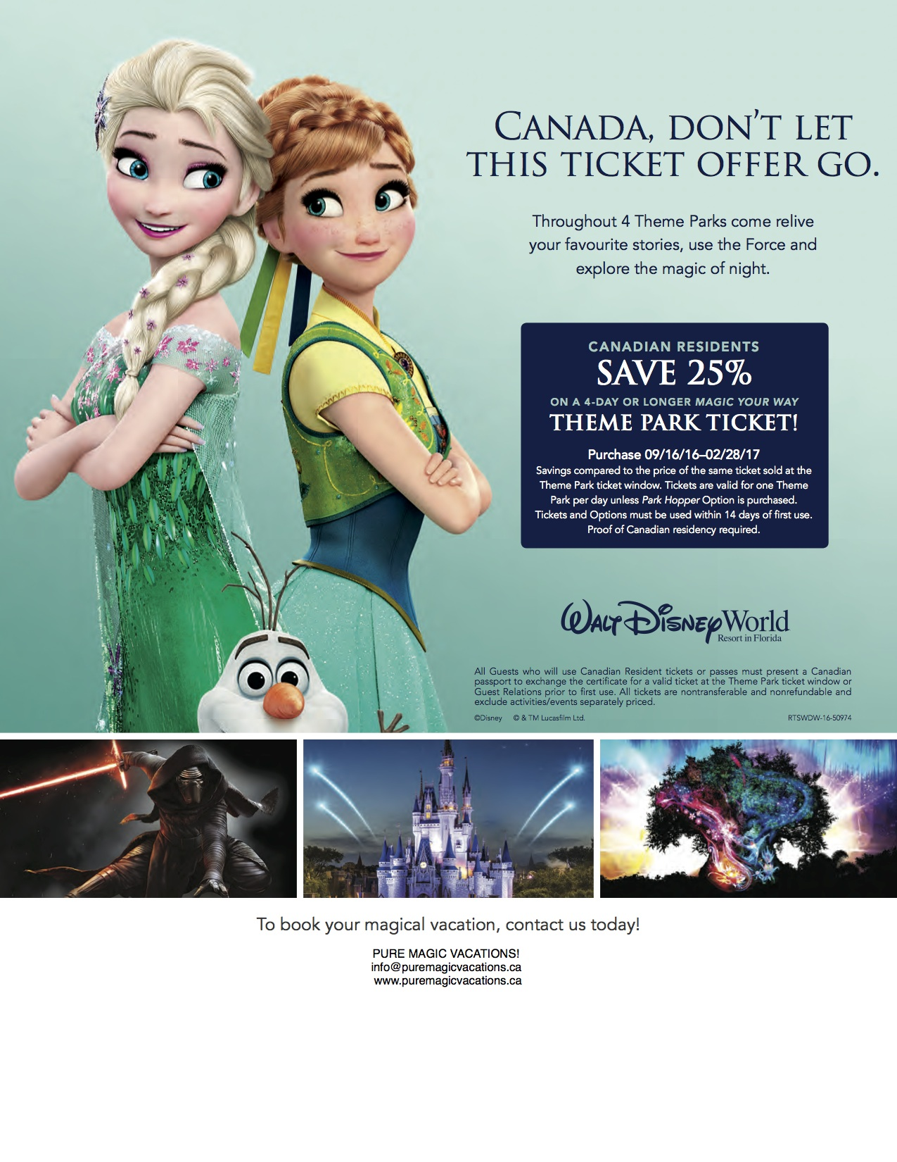 CANADIAN RESIDENT TICKET OFFER!