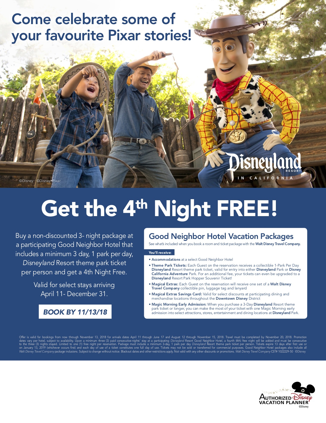GET THE FOURTH NIGHT FREE!